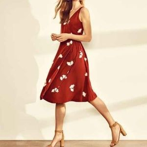 Ann Taylor Floral Midi Wrap Dress
